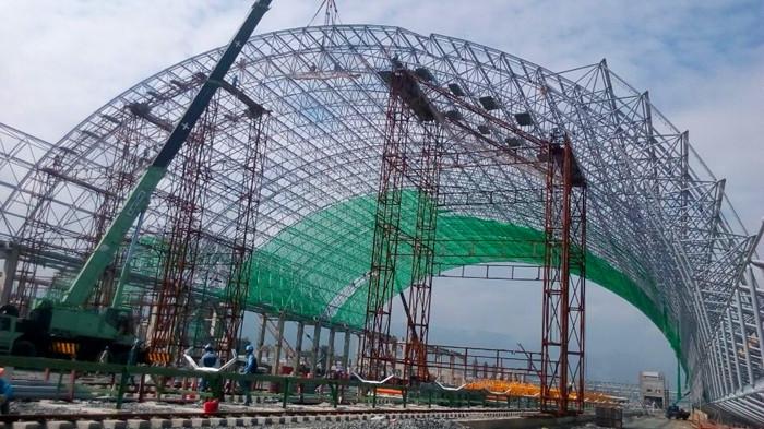 越南河静电厂煤棚网架工程-江苏华海钢结构有限公司.