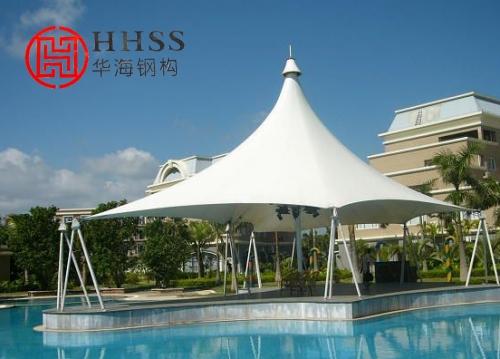 江苏华海钢结构网架公司阐述索膜结构和钢结构施工