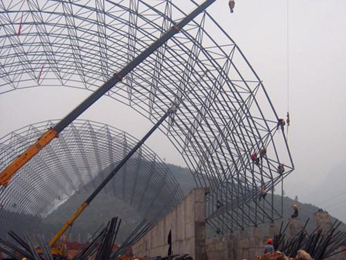 土耳其干煤棚网架_江苏华海钢结构网架工程有限公司