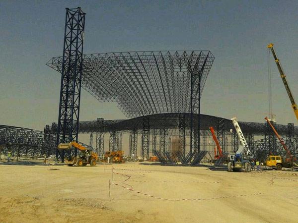 北京首都机场航站楼网架工程☆江苏华海钢结构网架